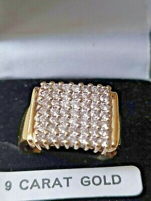 £249 • Buy 9ct Gold Diamond 1ct Cluster Ring Unisex Pre Owned Diamond Content 1ct Approx.