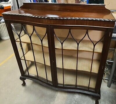 £75 • Buy Vintage Wood & Glass Display Cabinet Unit - Upcycle Project