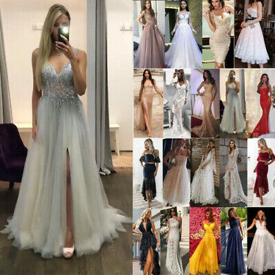 £12.99 • Buy Womens Formal Evening Party Maxi Dress Cocktail Prom Ball Gown Wedding Dresses