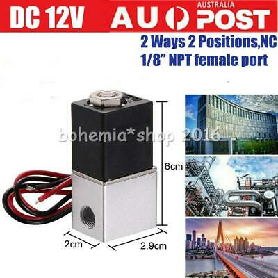 AU16.95 • Buy 12V 2 Way 1/8  DC Electric Solenoid Air Valve Normally Closed Solenoid AirValve