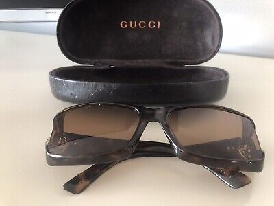 AU90 • Buy Gucci Sunglasses GG2599/S BNMDA Brown Tortoise Butterfly Iconic Logo + Case