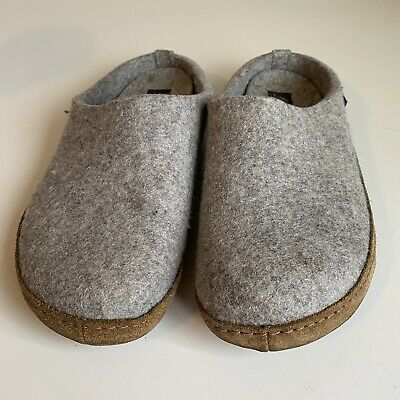 £50.61 • Buy Haflinger Emils Toffel Gray Wool Clogs Slippers Leather Sole Womens Size 40 US 9
