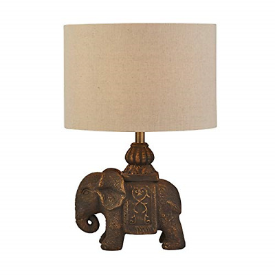 £36.92 • Buy Lighting Collection Stylish 1 Light With Beautiful Elephant Base Table Lamp With