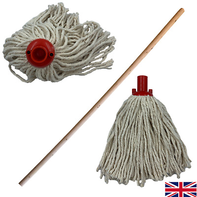 £7.79 • Buy Cotton Floor Mop With Handle Heads Replacement Screw Socket Heavy Duty Cleaning