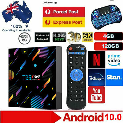 AU89.79 • Buy 2021 T95 NEW Smart Android 10.0 TV BOX 6K For Netflix Prime Video Disney 128GB