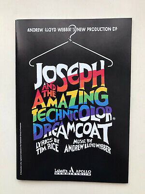 £3.95 • Buy JOSEPH AND THE AMAZING TECHNICOLOR DREAMCOAT The Musical Theatre Programme