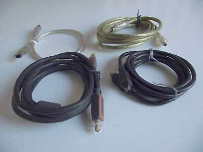 £6.99 • Buy Firewire Cable IEEE-1394 DV 4 Pin - Mixed Job Lot X 4