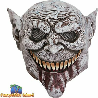 £10.49 • Buy Goblin With Bloody Tongue Halloween Mask Adult Mens Fancy Dress Costume