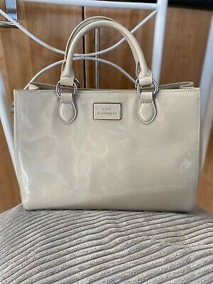 £79.99 • Buy Vintage Lulu Guinness Taupe Patent Leather Bag - Never Used!