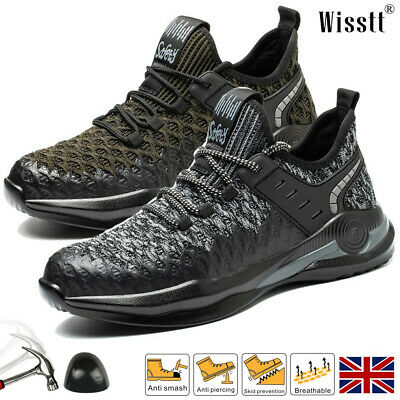 £24.75 • Buy Women's Lightweight Comfy Steel Toe Cap Trainers Safety Shoes Work Boots Lace Up