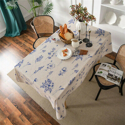 AU17.85 • Buy Vintage Cotton Linen Tablecloth Bee Print Table Cloth Cover Dining Kitchen Party