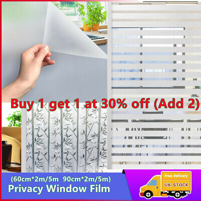 £5.99 • Buy Vinyl White Frost Privacy Frosted Window Film Matte Opal Etch Tinting Tint Glass