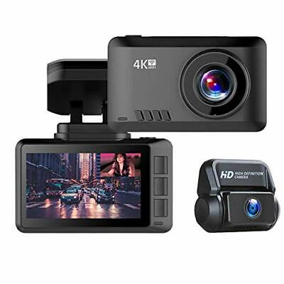 AU108.44 • Buy 4k Dual Dash Cam Front And Rear | Wi-Fi | GPS | Front 3840x2160P | Rear 1080P...