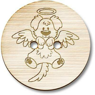 £3.99 • Buy 'Angel Dog' Wooden Buttons (BT029247)