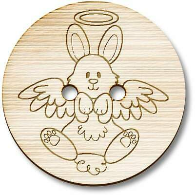 £3.99 • Buy 'Angel Bunny' Wooden Buttons (BT029248)