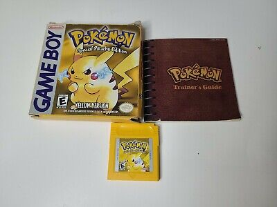 $299.99 • Buy Authentic Pokemon Yellow Special Pikachu Edition - Box Game Manual CIB Complete