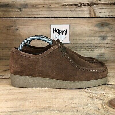 £59.99 • Buy CLARKS Wallabee Cola Women's Brown Suede Smart Lace Up Comfort Shoes Size UK5.5