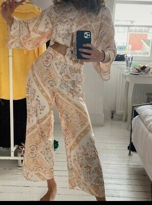 £38.80 • Buy River Island Lovely Palazzo Set New With Tag Cream Floral Size 8