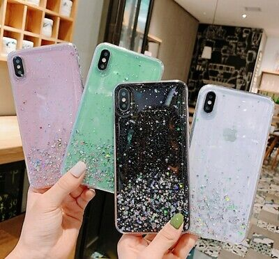 £1.79 • Buy Case For IPhone 12 11 Pro Max XR 7 8 Plus XS SE Glitter Silicone Hard Cover