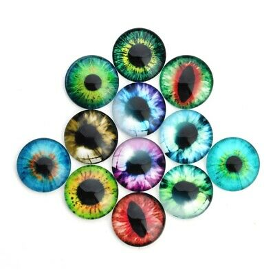 £3.89 • Buy 20pcs 10mm Diameter Mixed Color Retro Glass Doll DIY Eyes Accessories Wig