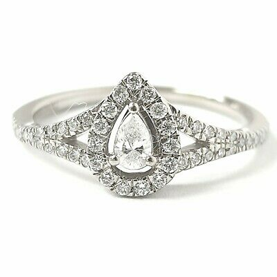 AU509.98 • Buy 14ct White Gold Ladies Diamond Adrianna Papell Cluster Ring 0.30ct 2.6g Size M