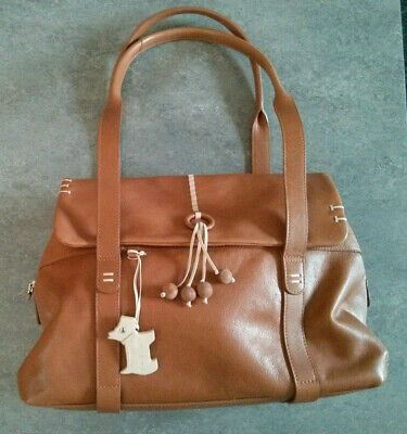 £29.99 • Buy Lovely Radley Tan Soft Leather Large Flapover Tote Bag