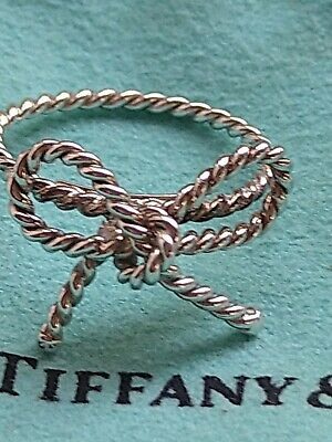 £149.99 • Buy Tiffany & Co Vintage Sterling Silver Twist Bow Ribbon Italy RARE