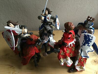 £12.99 • Buy VINTAGE ❤ PAPO 2000s ROYAL KING Knights Horses Shields SWORD ACTION FIGURES VGC