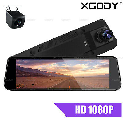 AU83.99 • Buy XGODY 8  Dash Cam Car DVR Rearview Mirror Front And Rear Camera Video Recorder