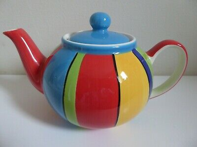 £9 • Buy  Whittard Of Chelsea Teapot Hand Painted Striped VGC