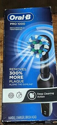 AU23.26 • Buy Oral-B Pro 1000 Crossaction Electric Rechargeable Toothbrush - Black