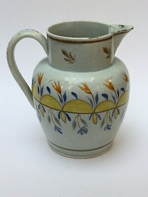 £45 • Buy Unusual Antique Pearlware Jug C1800, Late 18th, Early 19th C, Georgian Pottery
