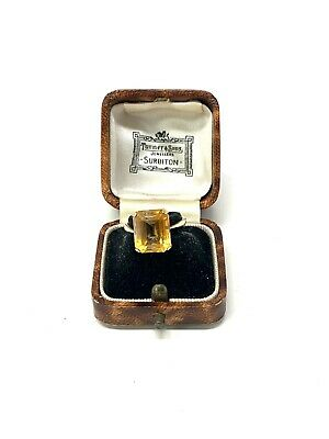 £12.50 • Buy Very Nice Heavy Vintage 9ct Yellow Gold 375 Citrine Ring Size L 3.5g  #1250