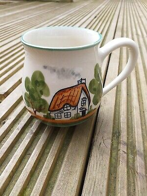 £15 • Buy Vintage Bovey Pottery Dartmoor Ware Thatched Cottage And Trees Ceramic Mug