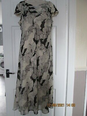 £18 • Buy Jacques Vert Black Ivory And Grey Mother Of The Bride Dress Size 18 Uk