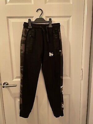 £2.20 • Buy Youths Money Black And Camo Tracksuit Bottoms Age 11-12