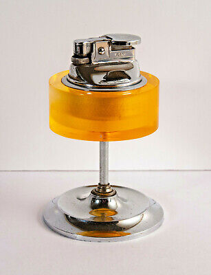 £16 • Buy Vintage Space Age Style Table Lighter Mid Century Modern 1960's Chrome & Perspex
