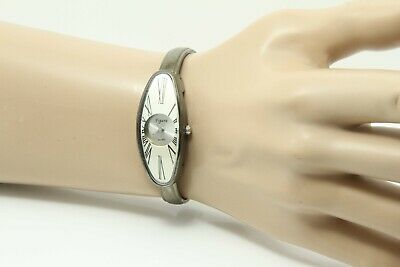 £18 • Buy Ladies  Oval - Brushed Look  Watch - Roman Numerals -