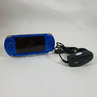 £74.99 • Buy Blue Sony Playstation Portable PSP 3003 Handheld Console W/Charger Tested Workin