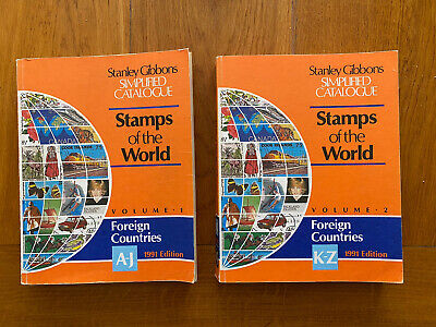 £15 • Buy Stanley Gibbons Catalogues - Stamps Of The World 1991 Edition, Vol 1 & 2