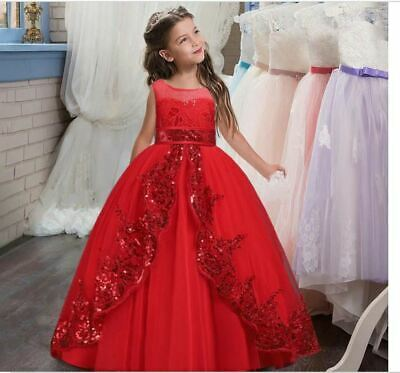 £24.50 • Buy NEW BEAUTIFUL Kids Girls Princess Sequins Ball Gown Pageant Party Dress