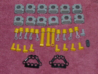£8 • Buy LEGO TECHNIC Engine Qty 12 Light Grey Cylinder Block With12 X Yellow Pistons