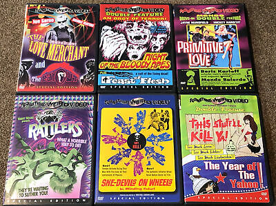 £54.47 • Buy Something Weird Video 6 DVD Lot Rattlers Primitive Love Sleaze Cult Exploitation