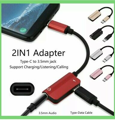 £3.49 • Buy Type-C To 3.5mm Jack AUX Audio Headphone USB-C Charging Adapter Splitter Cable