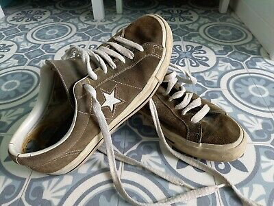 £9 • Buy Converse All Star Trainers Green Suede Originals Good Condition For Age