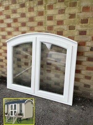 £175 • Buy Modern Arch Double Glazed Wooden Window Ideal For Shed Or Shepherds Hut