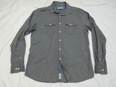£8.50 • Buy Barbour,size L,tailored Fit,grey,'Outpost',100% Cotton Shirt.