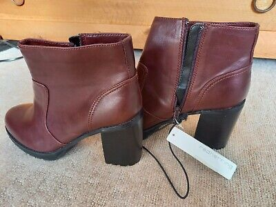£5 • Buy Red Herring Ladies Oxblood Red Boots -new With Tags