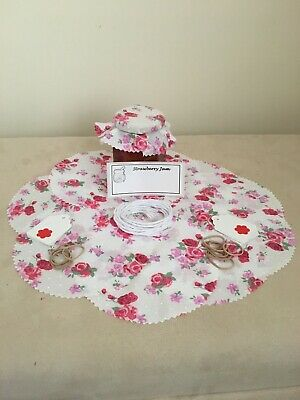 £3.30 • Buy 10 X Floral Jam Jar Covers,Bands,Ties,Tags & Labels