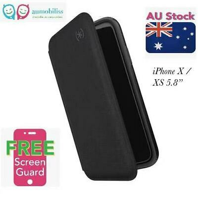 AU51.95 • Buy Speck Presidio FOLIO Wallet Stand Case Cover For IPHONE  X XS  5.8'' – Black